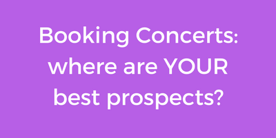 Booking Concerts: Is it Location, Location, Location?