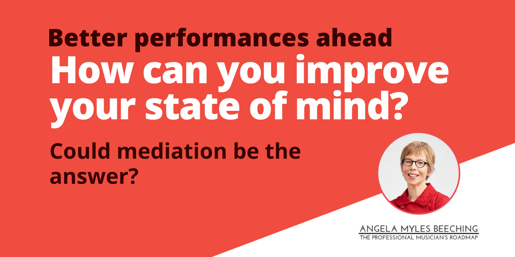 photo of Angela Beeching plus text: How can you improve your state of mind?