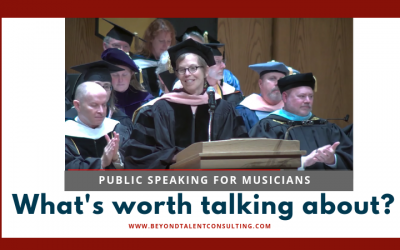 Public speaking for musicians — what's really worth talking about