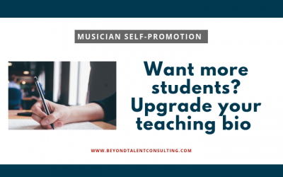 To attract more music students, upgrade your teaching bio