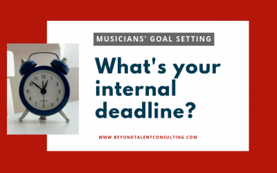 As a musician, what's your internal career deadline?