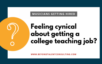 Feeling Cynical about the College Teaching Job Market?